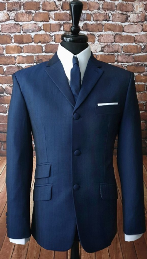 """Phillips"" Stunning Rich Navy Two Tone Suit"